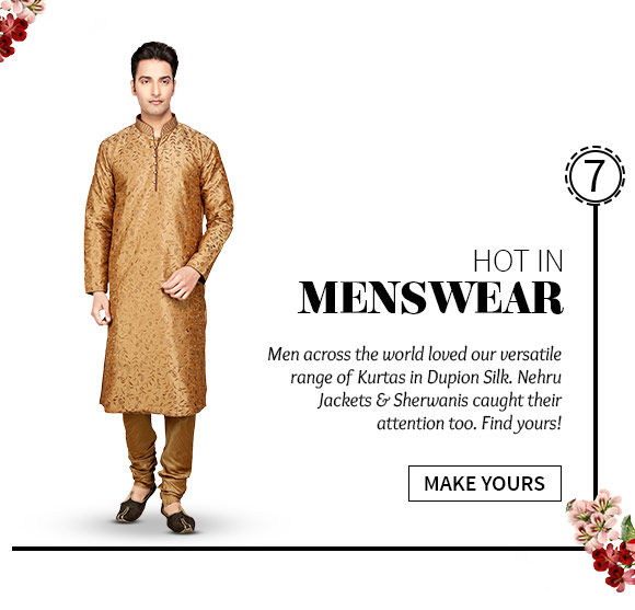 best-selling Dupion Silk Kurtas. Shop Now!