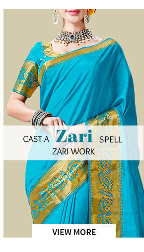 Zari Work in Sarees, Skd, Lehenga and more. Shop!