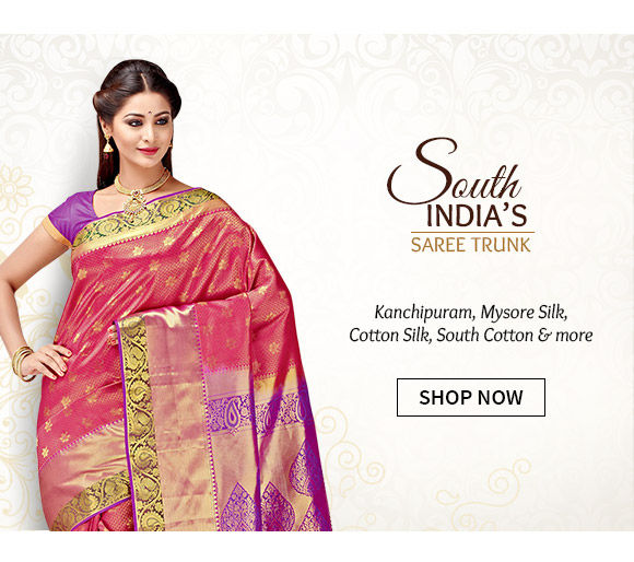 South Silk Sarees like Kanchipuram, Narayanpet, Gadwal & more for festive occasions. Shop Now!