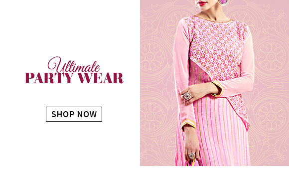 Glittering Ensembles & Add-ons for perfect party wear & more. Shop away!