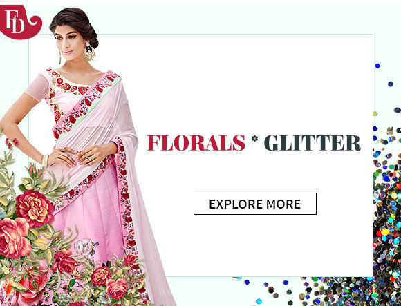 AW'16 Trend: Floral patterns & Glitter elements in ensembles & add-ons. Shop!