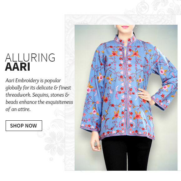 A versatile range of Ensembles with Aari Work. Buy Now!