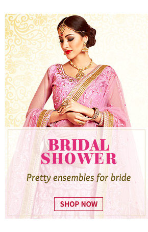 Front slit Kurtas, Brocade trousers, Dresses, Stone jewelry & more for Bridal Shower. Shop Now!