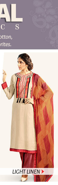 Up to 70% Off on Linen Sarees, Salwar Suits, Indowestern & more. Buy Now!