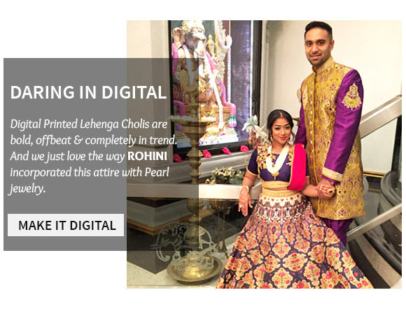 An attractive range of Digital Printed Lehenga Cholis. Shop Now!