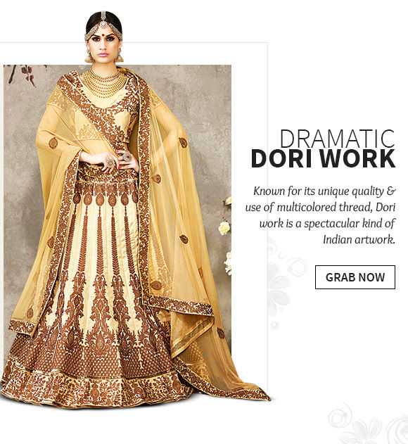 A beautiful array of Ensembles with Dori wok. Buy Now!
