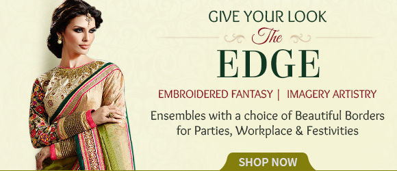 Exquisite Attires with distinct Embroidered & Plain Border Styles for a special look. Shop!