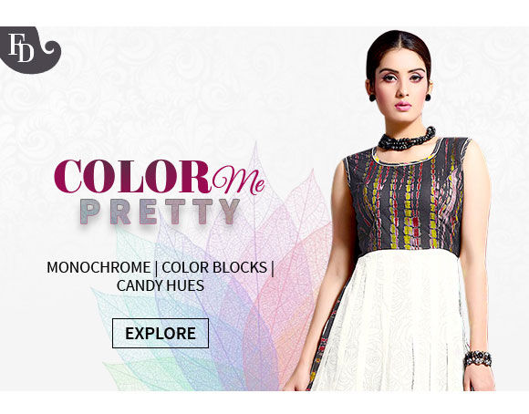 Fusion Wear, Sarees & Salwar Suits in Black & White, Color Blocks & Candy Hues. Shop!