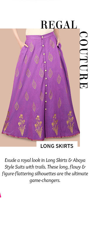 A gorgeous repertoire of Long Skirts. Shop Now!
