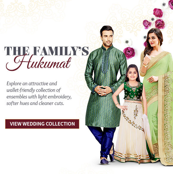 Family Closet of Bordered Sarees, Kurta Pajamas, Kidswear & more. Shop Now!