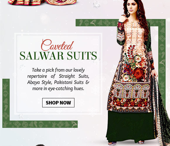 Pick your favorite from our stunning array of Salwar Suits. Buy Now!