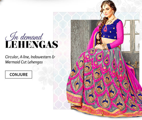Our stunning array of Lehenga Cholis. Buy Now!
