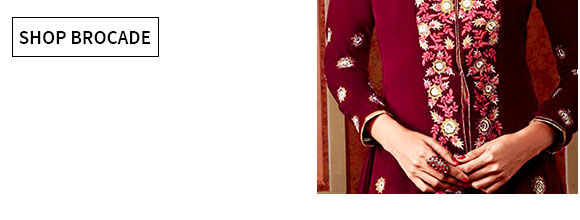 Select from our drooling array of clothing in Velvet with Brocade work. Buy now!