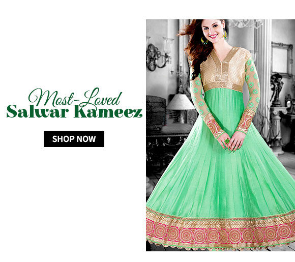 Salwar Kameez with Zari, Resham, Patch work & more.Shop!