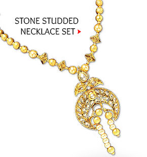Stone Studded Necklace Set Shop Now!