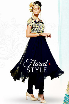Sheers & Flares: Net Sarees, Anarkalis, Abaya style Suits & Circular Lehengas. Shop Now!