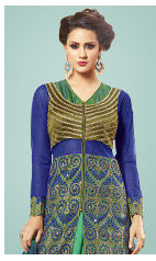 Bleed Blue in flamboyant styles in Indian Ethinc Wear. Shop Now!