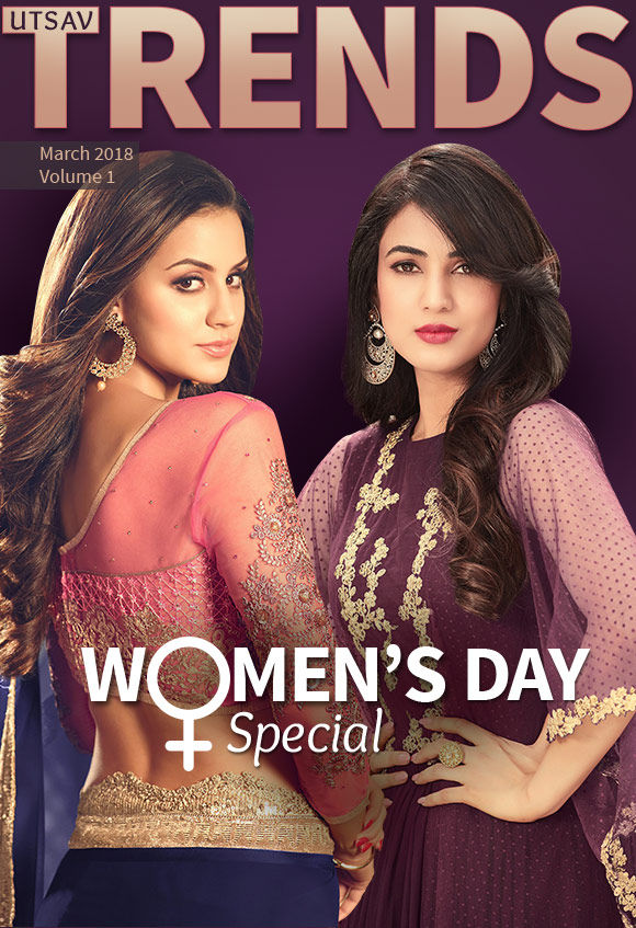 Women's Day Special: Art Silk and Kanchuram Sarees, Fusion Lehengas, Pakistani Suits, Pastel attires and more. Shop!
