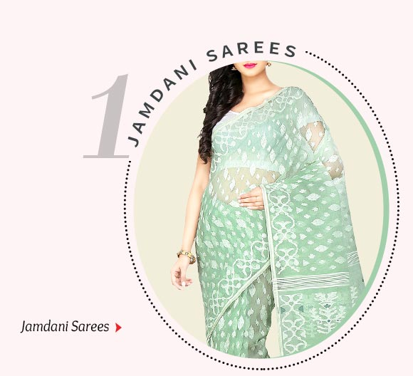 Jamdani cotton sarees. Shop Now!