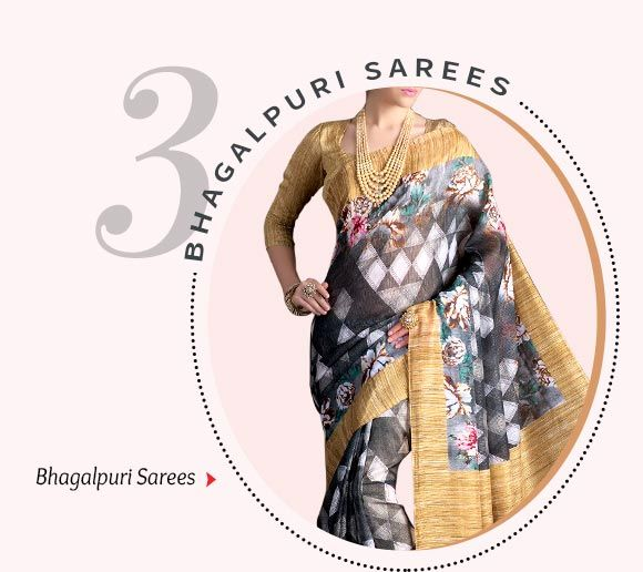 Printed Bhagalpuri Silk Sarees. Shop Now!