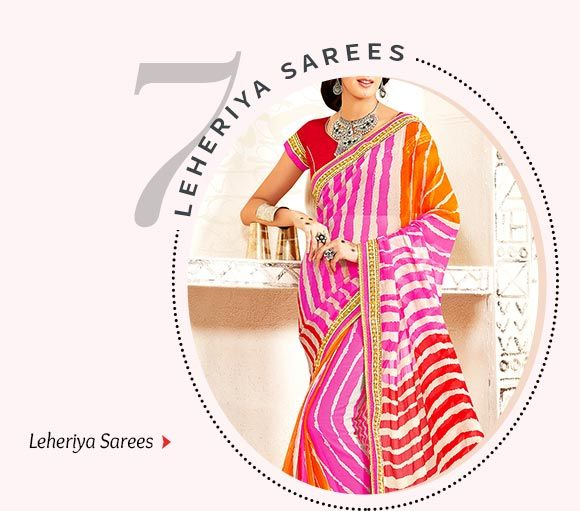 Leheriya Printed Sarees. Shop Now!