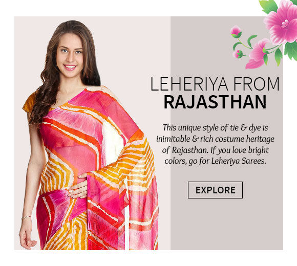 A lovely collection of Leheriya Sarees. Shop Now!
