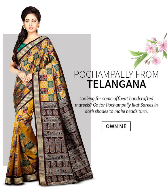 A lovely range of Pochampally Ikat Sarees. Shop Now!