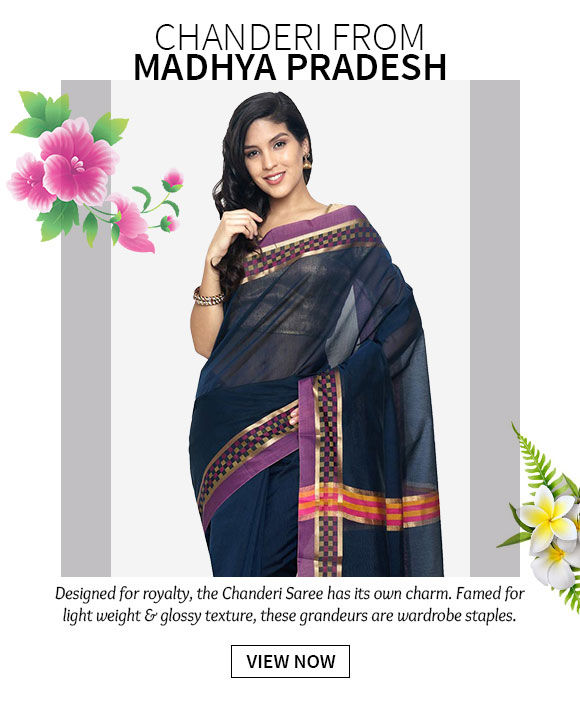 A beautiful repertoire of Chanderi Sarees. Shop Now!