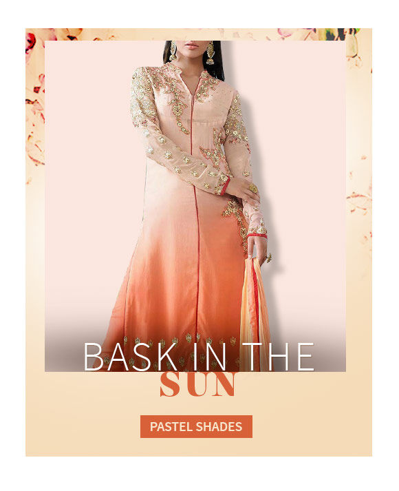 A lovely range of Attires in Pastel Shade. Shop Now!