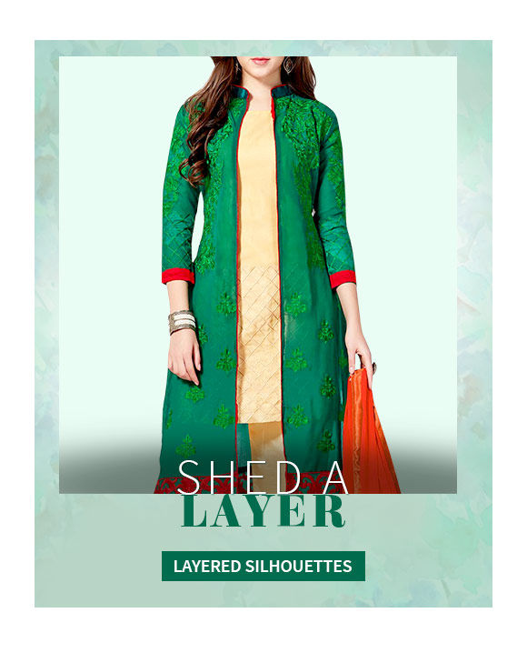 Layered Styles in Jacketed Lehenga Cholis, Tiered Skits, Jacket with Palazzos. Shop!