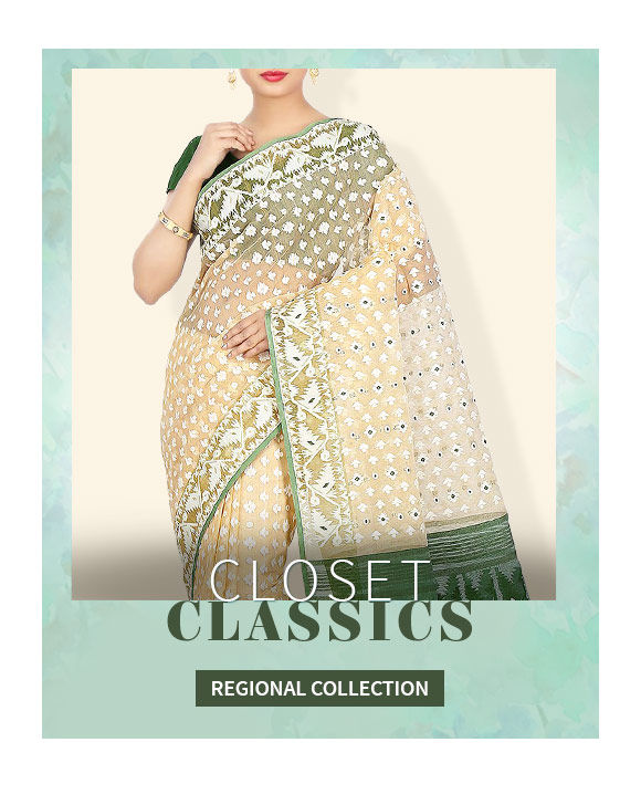 A wide array of gorgeous Banarasi, Paithani, Muga Silk Sarees & more. Shop Now!