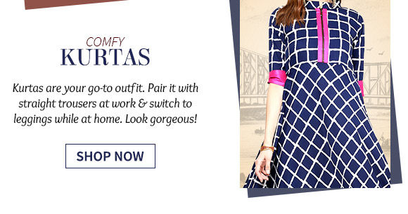 A beautiful repertoire of Kurtas. Shop Now!
