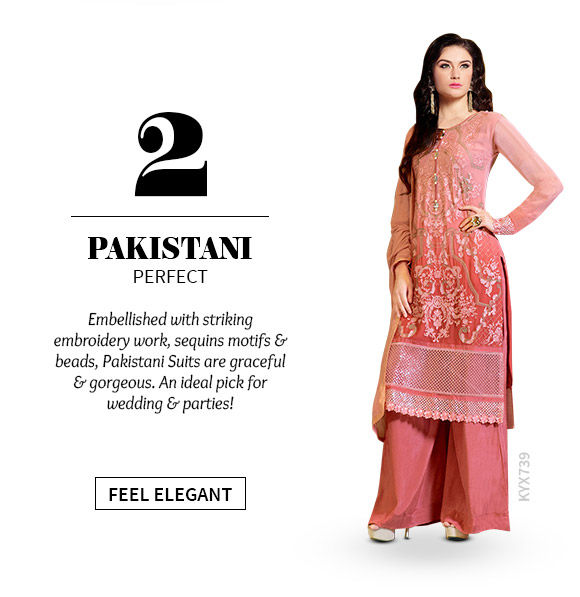 A beautiful array of Pakistani Suits. Shop Now!