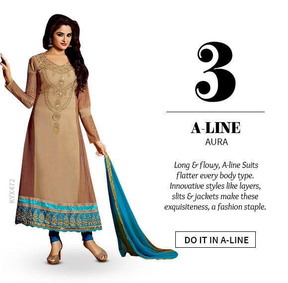 A gorgeous range of A-line Suits. Shop Now!