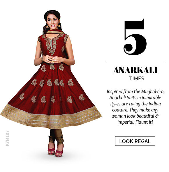 A gorgeous repertoire of Anarkali Suits. Shop Now!