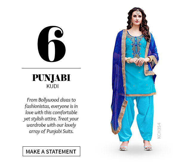A lovely collection of Punjabi Suits. Shop Now!