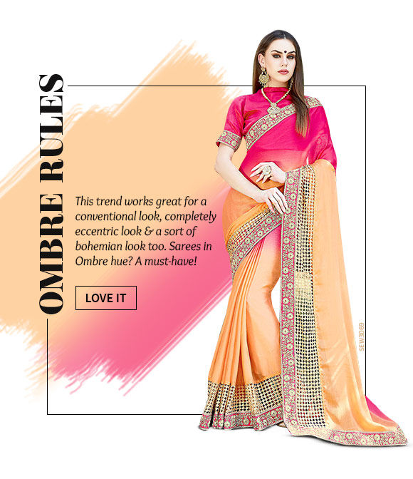 A lovely collection of Sarees in Ombre. Shop Now!