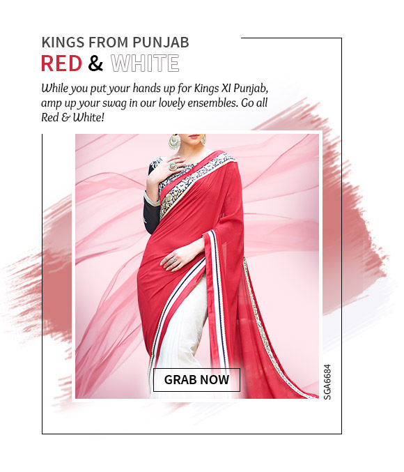 Cheer for PUNJAB in our beautiful collection in Red & White hues. Shop Now!