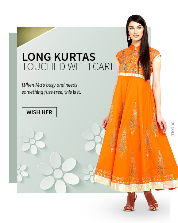 Long Kurtas for Mother's Day. Shop!.