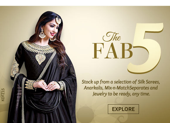 Banarasi Silk Sarees, Anarkalis & Abayas, Palazzos, Skirts, Kurtis, Jewelry & more. Shop!
