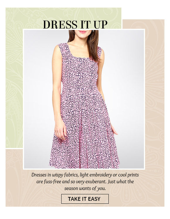 Dresses in pastels and dark colors in breezy Georgette and Chiffon. Shop!