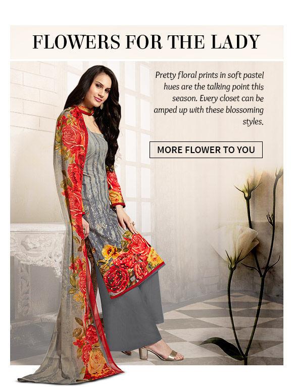 Floral printed ensembles for daytime dos. Shop!