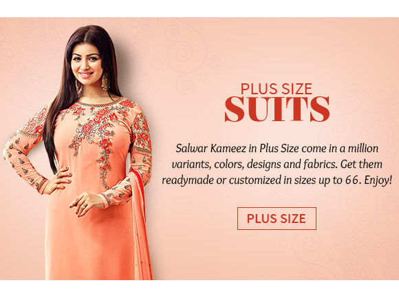Plus size Salwar kameez. Shop!