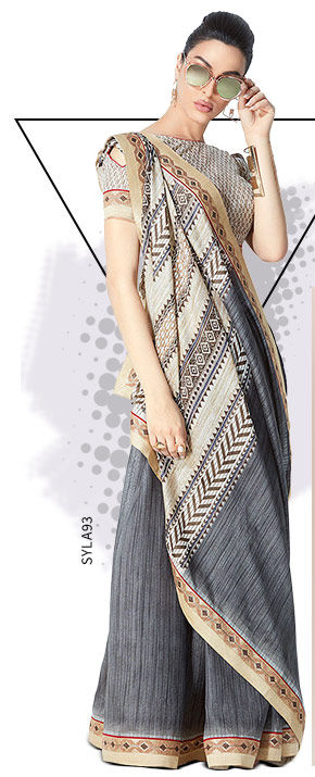 Printed Sarees in Georgette, Chiffon and more. Shop!