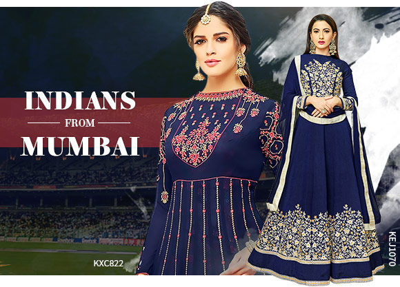 Ethnic ensembles in Blue color. Shop!