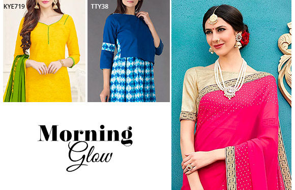 Ethnic Attires in vibrant tones. Shop!