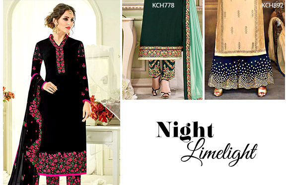 Salwar Suits with statement lowers. Shop!