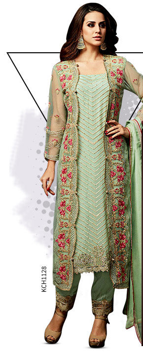 Pakistani Suits in cool fabrics. Shop!