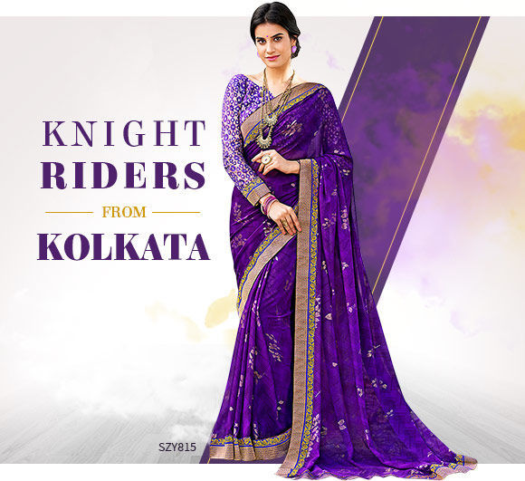 Ethnic ensembles in Violet color. Shop!