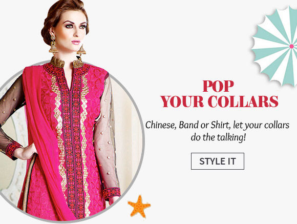 A wide array of Silhouettes with High Collar Necklines. Shop Now!